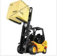 Wholesale Toy Forklift Remote - 1:20 6CH mini remote control forklift funny construction vehicles kids electric rc toys children creative gift + free shipping