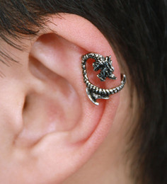 Wholesale Earrings Gothic Dragons - Hot Gothic Dragon Earrings Punk Ear Cuff Warp Clip Fashion Jewelry Unisex Earrings Clip-on Gift 81777