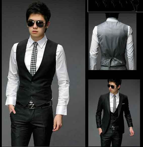 2017 Fashion Men's Suit Vest Top Slim Fit Luxury Business Dress ...