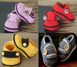 chaussures en crochet Promotion 35% de réduction chaussures chaudes épaisses.0-1 ans, tête d'animal cartoon nouveau-né, main crochet chapeau / bébé usure / chaussures vente / enfant chaussures / chaussures en ligne 5 paires / 10pcs