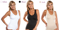 Wholesale Thin Modal Tops - hot selliing !!Cami shaper by Genie with Removable Pads Look Thinner Instantly the Ultimate 3 in 1 Garment free shipping