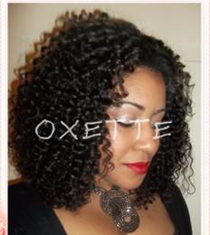 French curls wig online shopping - Oxette Glueless short hair wigs for black women full short wigs natural hair virgin Brazillian kinky curl fashion