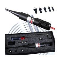 lazer modeli toptan satış-Yeni Model Taktik kırmızı nokta sight lazer boresighter. 22 ila. 50 beş kalibre Airsoft avcılık tüfek Kapsam delik sighter ücretsiz kargo