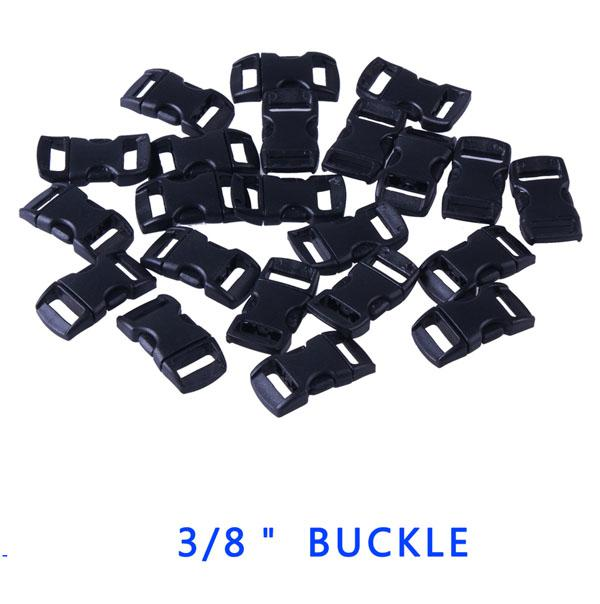 """Wholesale 3/8"""" Plastic Buckle for Paracord Bracelet Contoured Curved Side Release"""