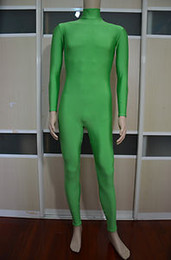 $enCountryForm.capitalKeyWord Canada - green Lycra Catsuit Zentai Spandex Halloween Costumes Party Without hood gloves socks