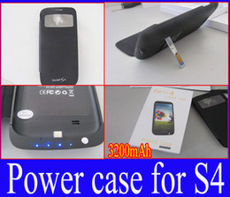 Wholesale Emergency Charger Case - Wholesale - Power Bank Backup 3200mah Extra Battery Emergency Charger Case FOR Samsung S4 SIV Leather Flip Cover Retail Packaging Free shipp