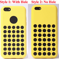 Wholesale Iphone 5c Silicon Dots - Special Factory Direct Soft Clear Silicon official design Rubber dot dots Skin TPU Gel Back Case Cover Shell for iPhone 5C iPhone5C