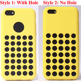 Wholesale Gel Case For Iphone5c - Special Factory Direct Soft Clear Silicon official design Rubber dot dots Skin TPU Gel Back Case Cover Shell for iPhone 5C iPhone5C