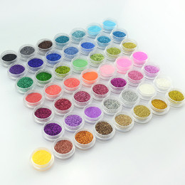 Wholesale Nail Powder Decoration - New Supernova Sale 3d Nail Art Decorations 50 Colors Tiny Glitter Powder Nails Decoration Nail Supplies G015