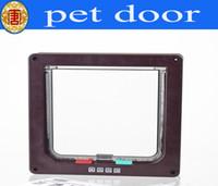 Wholesale Pet Door Small - Cat Door Kitten Small Dog Pet 4 Way Flap Lock Safe Lockable Pet Supplies