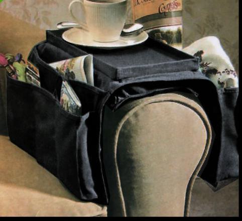 Großhandel Armlehnenhalter Veranstalter Fernbedienung Tasche Sofa Caddy 6 Slots Snack Tray Top