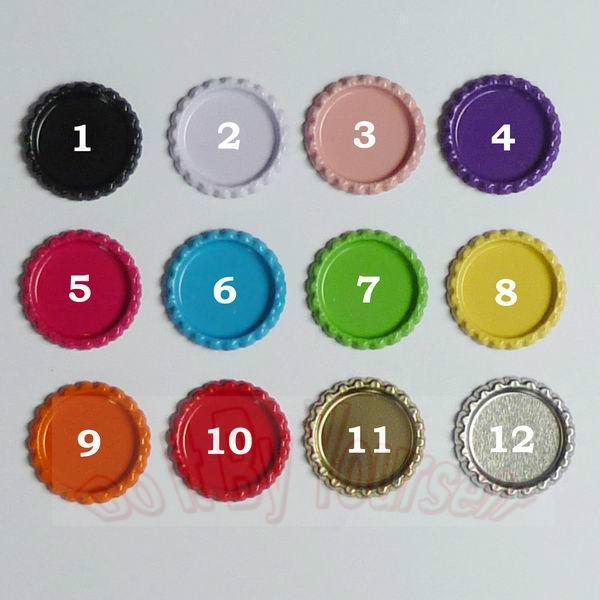 Beide Seiten färbten Metallbierflaschen-Kappen für DIY Schmucksachen