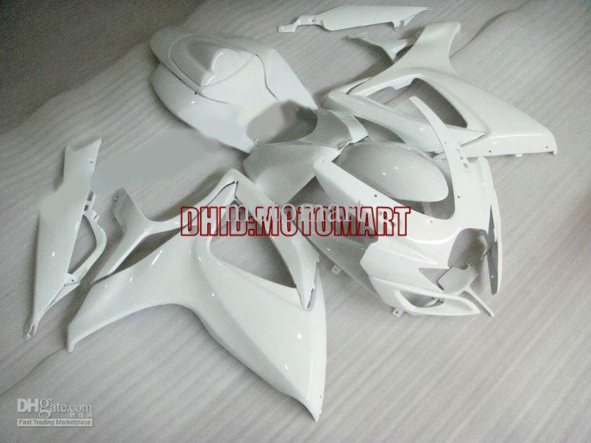 Verkleidungsset für SUZUKI GSXR600 750 2006 2007 GSXR 600 GSXR 750 K6 06 07 komplettes weißes Verkleidungsset + 7 Geschenke Sp53