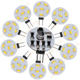 Wholesale Rv Bulbs - 50pcs High Quality G4 RV Boat 6 5730 SMD LED Bulb Warm White Light 10V-30V AC 210LM for best price free shipping