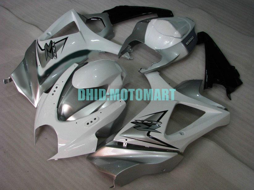 Motorcycle Fairing kit for SUZUKI GSXR1000 2007 2008 GSX-R1000 GSX R1000 GSXR 1000 K7 07 08 ABS silver Fairings kit+7gifts Sh24