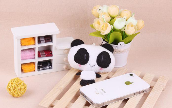 pendiente de la panda del teléfono móvil encanto del bolso regalo de la promoción del juguete llavero