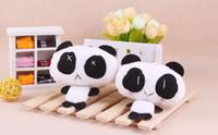 animales encantos de telefonía móvil al por mayor-Panda Mobile Phone Charm Bag colgante llavero juguete regalo de la promoción