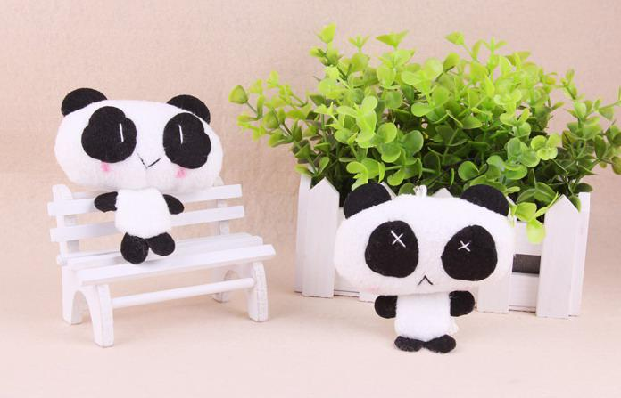 super cute Panda Mobile Phone Charm Bag pendant keychain toy promotion gift
