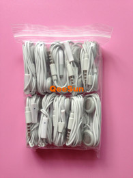 Wholesale Ipad Mp4 Mp3 - Hands-free Answer Earphone With Mic Microphone For iPhone 6 4.7 Plus 5.5 5 5G 5S 5C 4S 4 IPod IPad Mini Samsung Galaxy S5 S4 MP3 MP4 Player