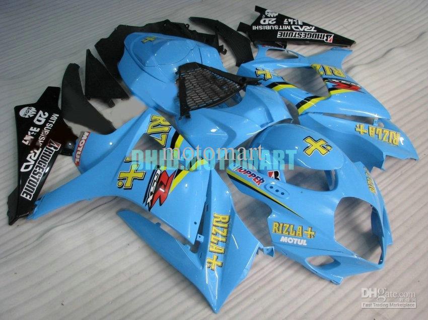 Kit de carenado ABS para SUZUKI GSXR1000 2007 2008 GSX-R1000 GSX R1000 GSXR 1000 K7 07 08 Conjunto de carenados RIZLA azul + 7dias Sh34