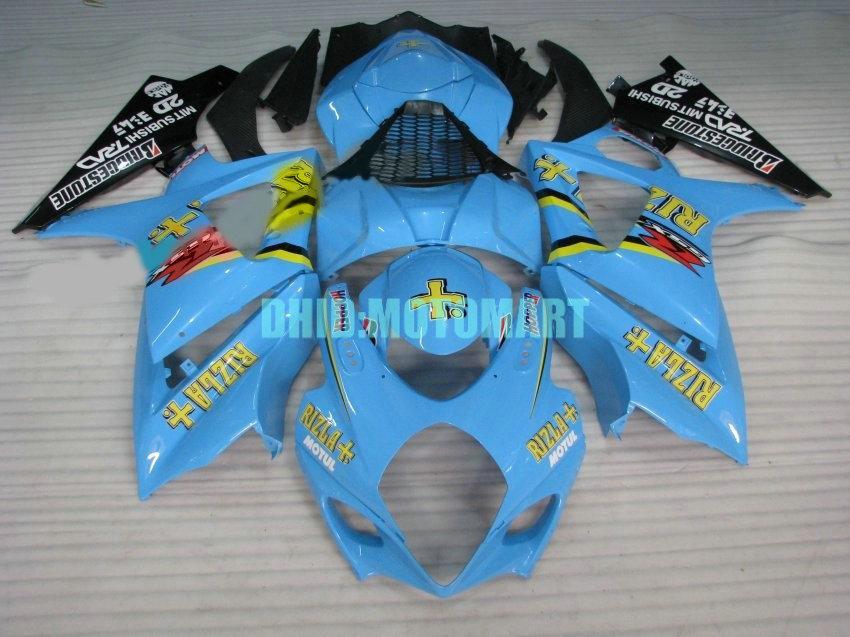 Комплект обтекателя ABS для SUZUKI GSXR1000 2007 2008 GSX-R1000 GSX R1000 GSXR 1000 K7 07 08 Комплект обтекателей RIZLA синего цвета + 7 подарков Sh34