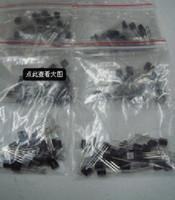 Wholesale Transistor A92 - S9012 S9013 S9014 A1015 C1815 S8050 S8550 2N3904 2N3906 A42 A92 A733,17valuesX10pcs=170pcs,Transistor Assorted Kit