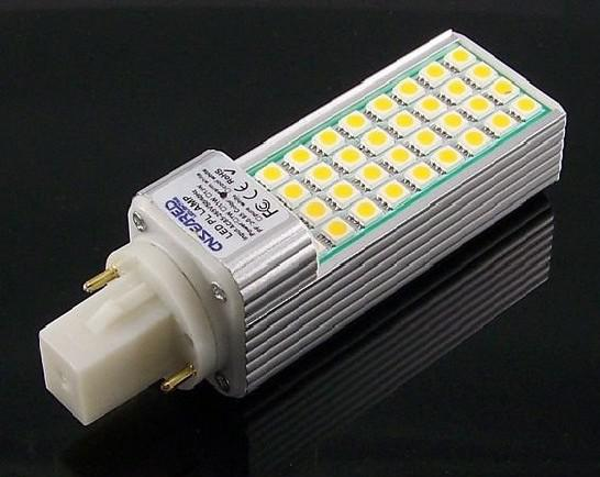 Free shipping 11W G24 or E27 LED light 44 SMD 5050 PL Replacement led Spotlight led Down Light Bulb