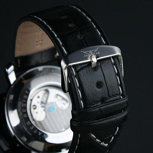 Jaragar Men Gent Black Multi-Function Date Mens Automatic Horloge Vintage Horloges DHL Gratis verzending