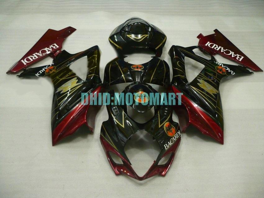 Motorrad Verkleidungsset für SUZUKI GSXR1000 K7 07 08 GSXR 1000 2007 2008 ABS Rot schwarz Verkleidungssatz + Geschenke SBC41