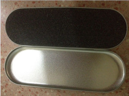Wholesale Iron Cigarette Case - Metal Bags for E Cigarettes Metal Ego Carry Case for Ego Series Iron Box DHL free