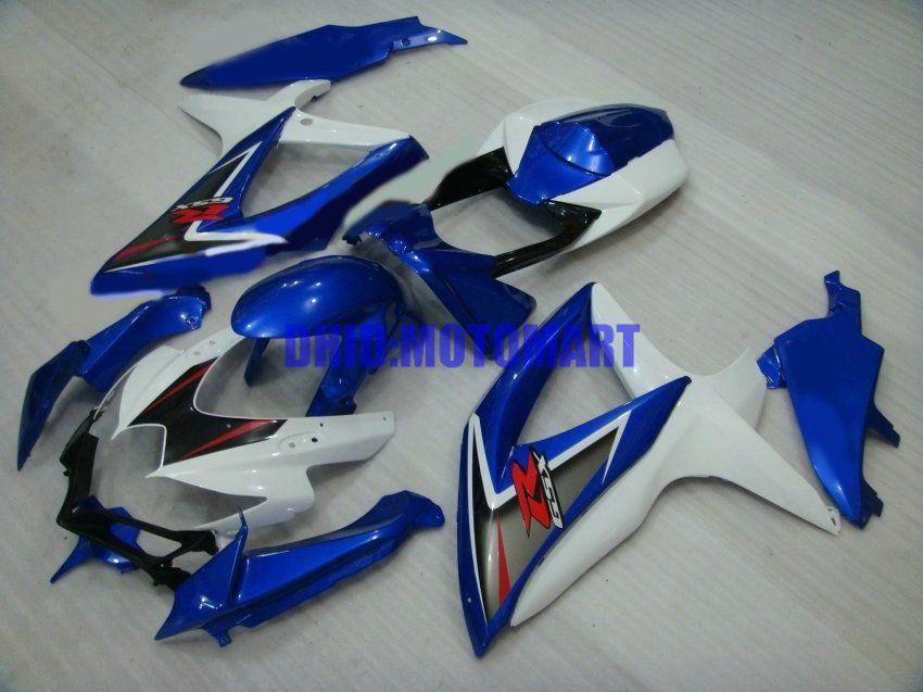 7geschenke !! Custom Verkleidungskit für SUZUKI GSXR600 750 2008 2009 GSXR 600 GSXR 750 K8 08 09 Weiß Blau Verkleidungsset Sw52