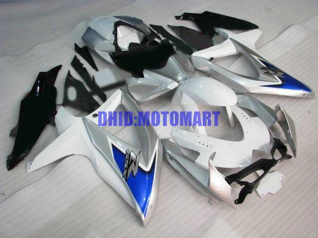 7 regalos !! Kit de carenado para SUZUKI GSXR600 750 2008 2009 GSXR 600 GSXR 750 K8 08 09 blanco negro Carenados conjunto Sw55