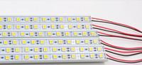 barra rígida de aluminio con barra de luz al por mayor-1m 72leds 5050 SMD LED Luces de tira rígidas Lámpara Artículo rígido Barra de luces +