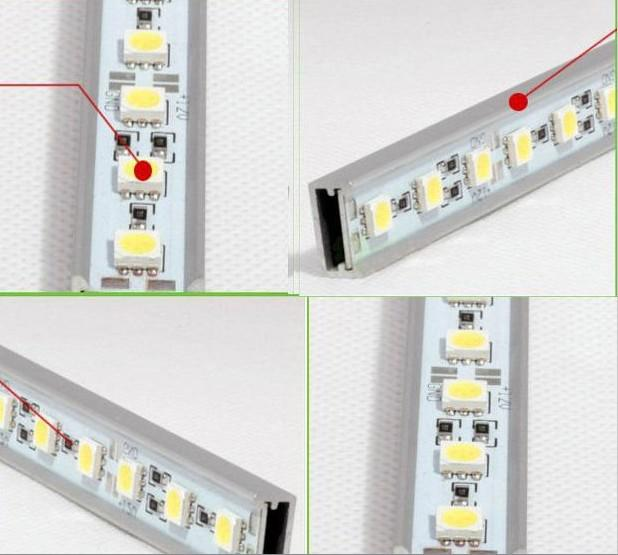 Wasserdicht IP68 1m 72leds 5050 SMD LED steife Streifen-Licht-Lampen Fest Artikel Light Bar +