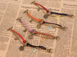 Wholesale Rope Anklets - New Men Women 12 Horoscopes Constellations Bracelet anklets Charm Jewelry multilayer Bracelets Beaded leather rope Strands Cuff Chain bangle
