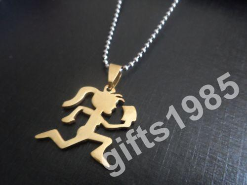 Sporty girl pendants gold-plated stainless steel hatchetman Christmas gifts ball necklace free