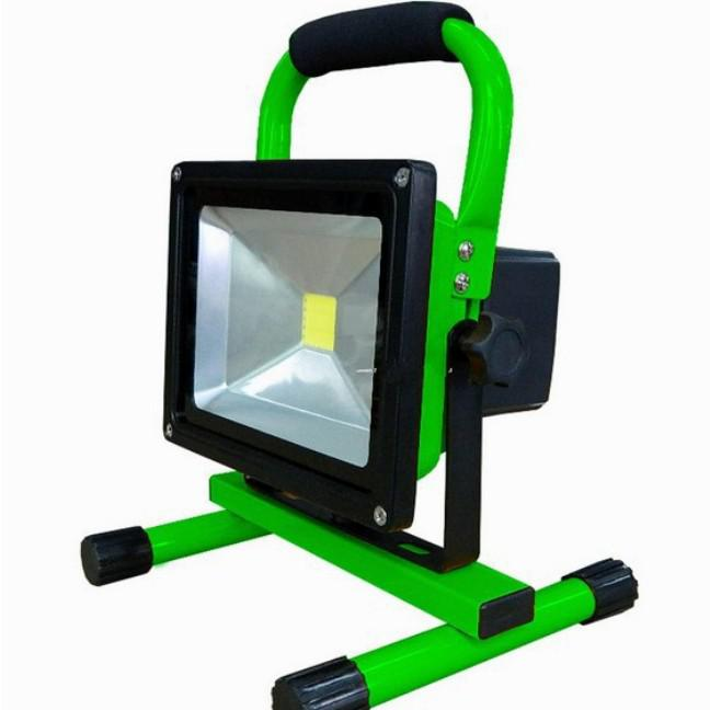-10W 800LM Portable LED Floodlight Rechargeable Emergency Lamp Backup Lighting Movable Camping Light Lamp Waterproof+2 Charger