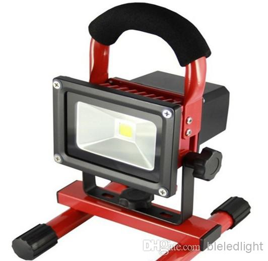 10w 800lm portable led floodlight rechargeable emergency - Exterior light with battery backup ...