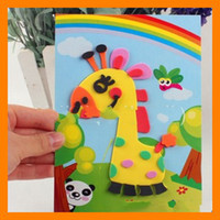 Wholesale Eva 3d Foam Stickers - Foam Art Kit Children Educational Toys EVA 3D DIY Sticker Puzzle 20 Style Free Shipping