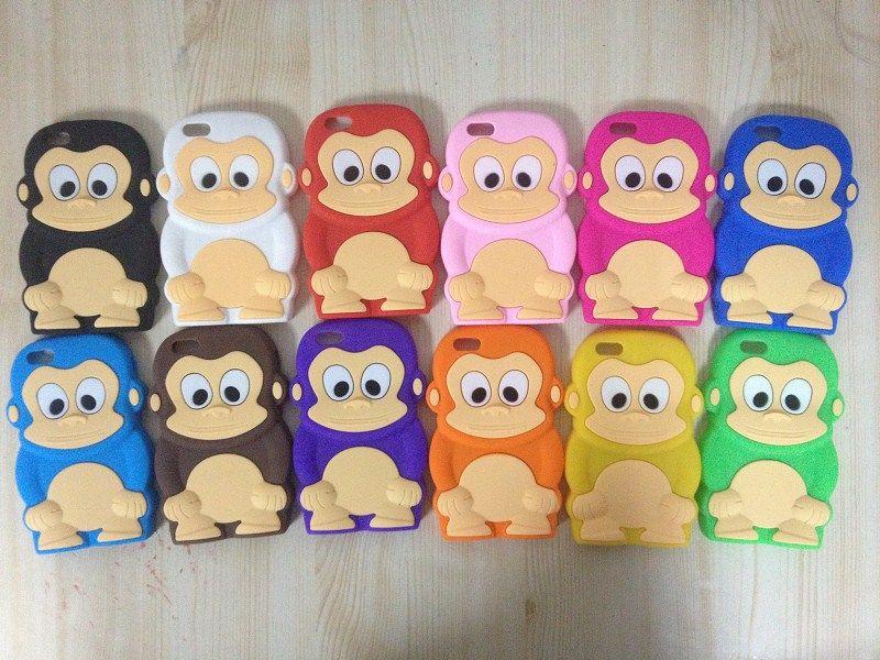 3d Cartoon Cute Monkey Big Eyes Soft Silicone Funny Case