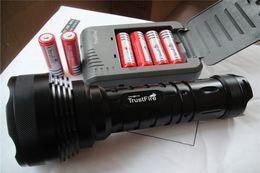 Wholesale 12x Cree Flashlight - TrustFire 12x CREE XM-L T6 LED Flashlight Torch Light 80W 15000 Lumen + 6*18650 battery + Charger Free shipping