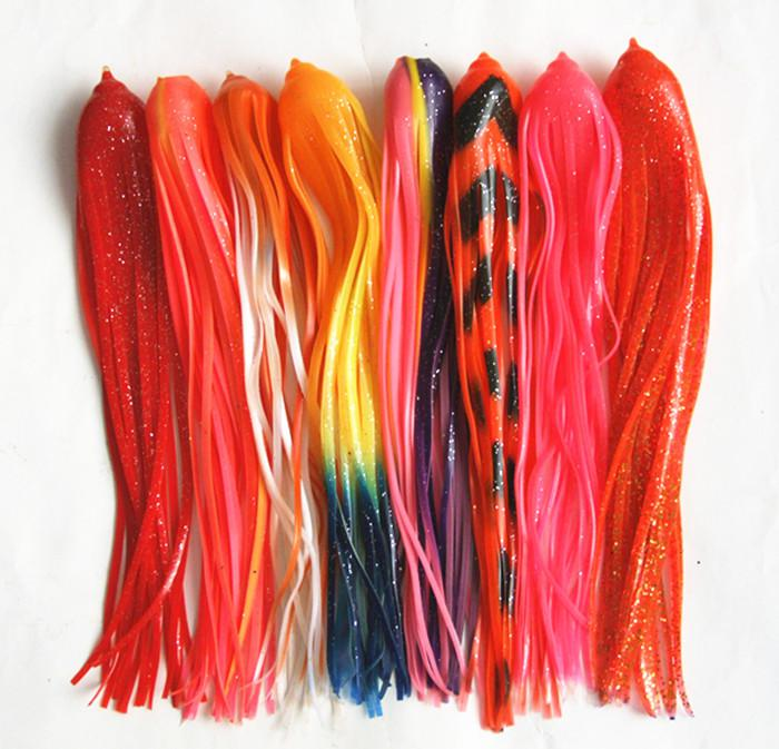 """10.5"""" Octopus Skirt Bait Fishing Tackle Fishing Lure Big Game Lures Trolling Lure Tuna Lure Soft Plastic Worm Flat Head Shoulder Width 45cm"""