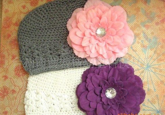Wholesale - Baby Toddler Kufi Crochet Beanie Baby Kufi Hat Kufi Cap Baby Girl's Crochet Beanie Hand-woven