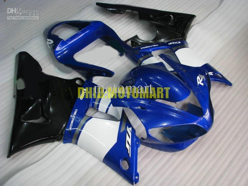Motorcycle Fairing kit for YAMAHA YZFR1 00 01 YZF R1 2000 2001 YZF1000 ABS White blue black Fairings set+gifts YB14