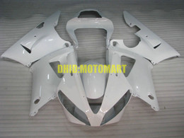 2020 yamaha yzf r1 carenados blancos Kit de carenado de motocicleta para YAMAHA YZFR1 00 01 YZF R1 2000 2001 YZF1000 ABS All White Fairings set + regalos YB15 yamaha yzf r1 carenados blancos baratos