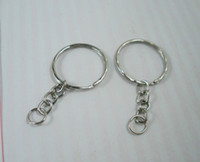Wholesale Chained Rings - Hot ! 300pcs Antique Silver Band Chain key Ring DIY Accessories Material Accessories