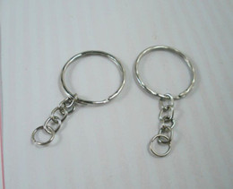 Wholesale Wholesale Metal Chain - Hot ! 300pcs Antique Silver Band Chain key Ring DIY Accessories Material Accessories