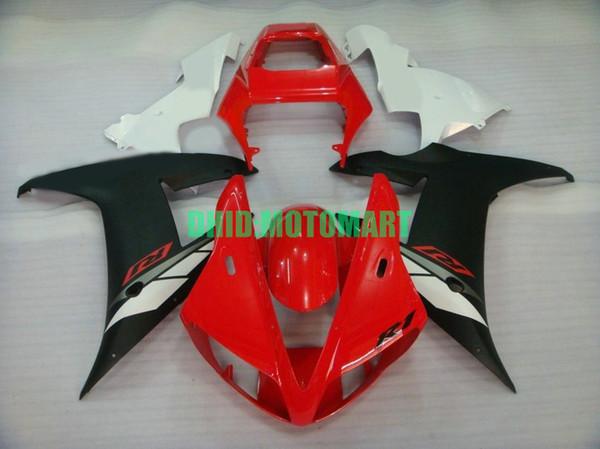 Комплект обтекателя мотоцикла для YAMAHA YZFR1 02 03 YZF R1 2002 2003 YZF1000 ABS Белый красный черный Обтекатель + подарки YC01