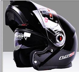 Wholesale Ls2 Winter - LS2-370 New Dual Lens mortgage professional motorcycle helmet winter helmet full face helmet half helmet deceleration male