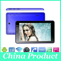 Tablet China 4gb Australia - 7 Inch A13 Dual Sim 2G Phone Call Tablet Android 4.0 Dual Camera 512M 4GB 1.2GHz Capacitive Screen WIFI Bluetooth Android Phablet 000608
